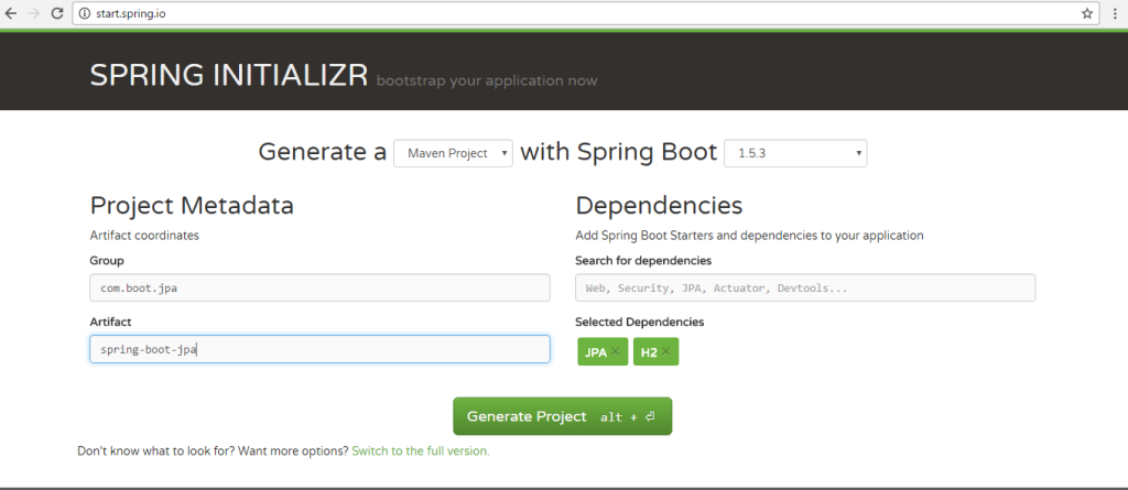 spring-boot-jpa-intializr